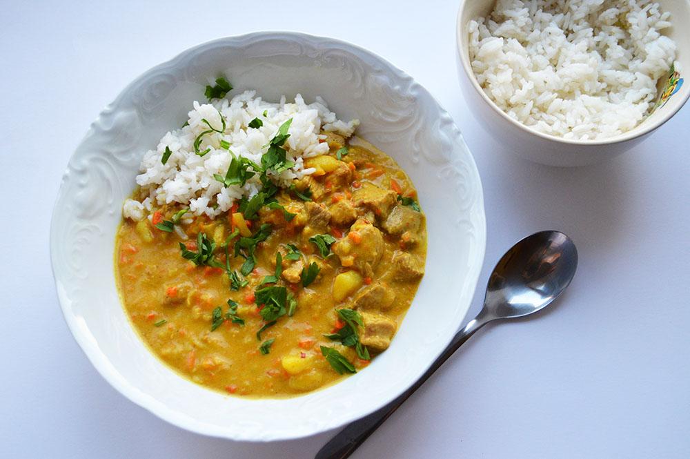 Curry z indyka i warzyw
