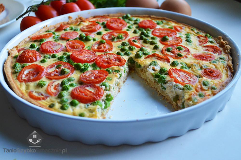 Tarta z groszkiem i pomidorami_07a