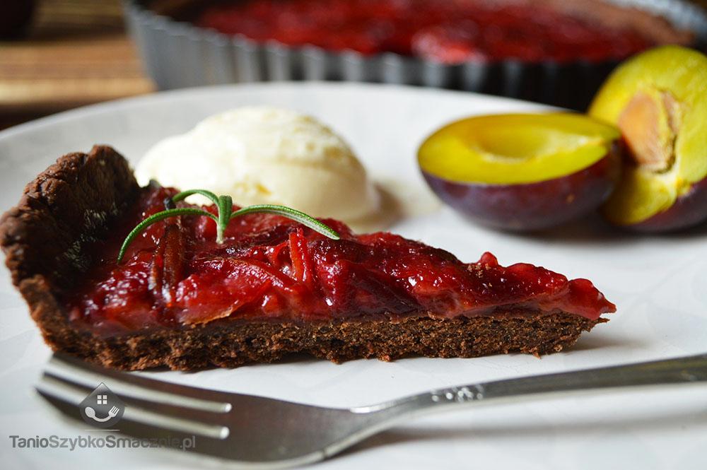 Tarta czekoladowa ze śliwkami_10a