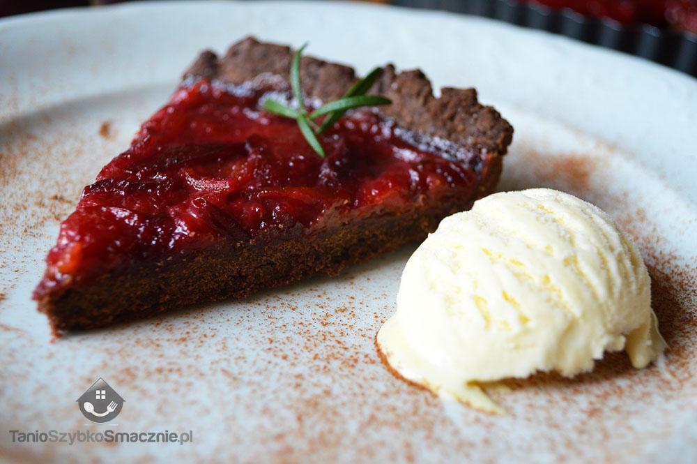 Tarta czekoladowa ze śliwkami_9a
