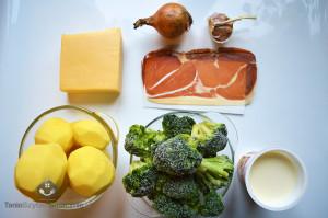 Zapiekanka ziemniaczana z brokułami i szynką parmeńską_01a