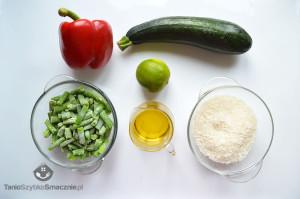 Sałatka z ryżem, cukinią i fasolką_01a