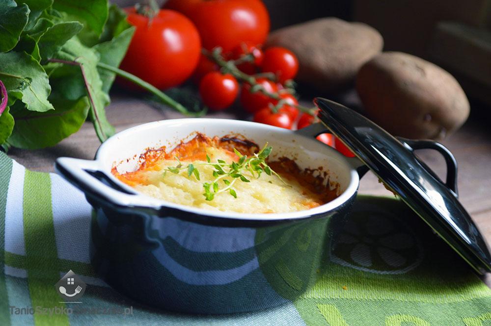Zapiekanka z mięsem mielonym pod puree ziemniaczano-kalafiorowym_04a