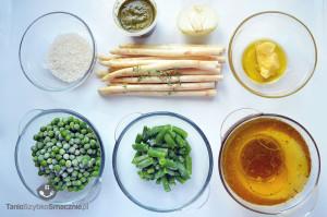 Zupa z białymi szparagami, fasolką, groszkiem i pesto_01a